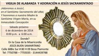 Gran Invitación a Vigilia de Alabanza y Adoración