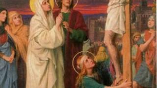Junto a la cruz estaba María