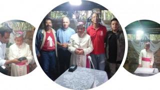 Bendición de Monseñor Carlos Germán Mesa Ruíz a  la Casa de la Misericordia Finca San Juan Pablo II en San Gil.